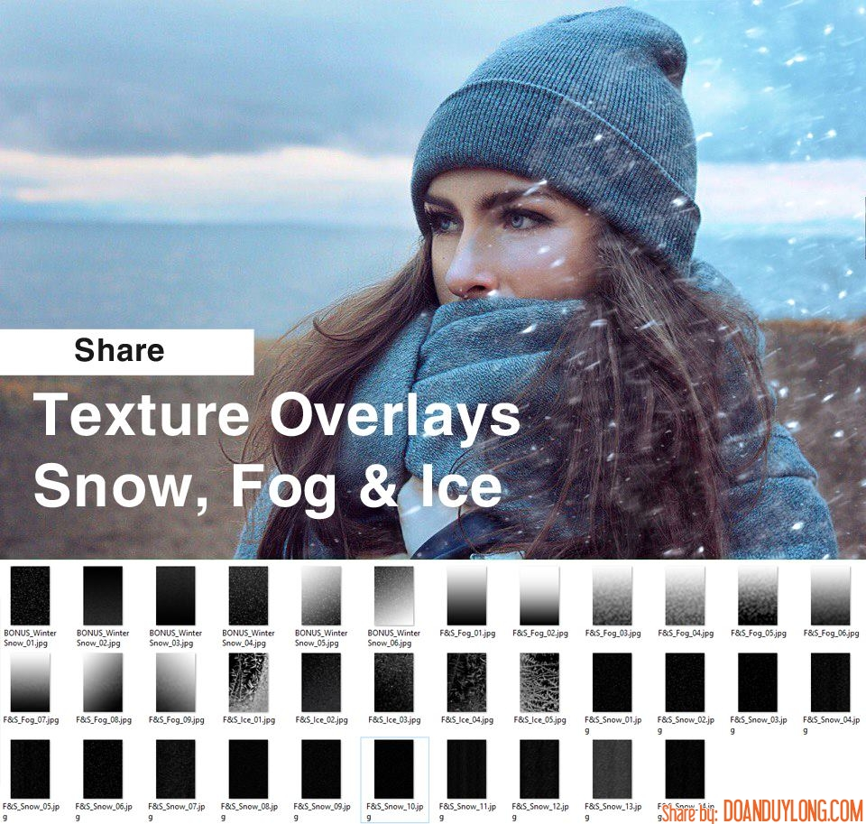 Chia sẻ stock tuyết, sương, đá để ghép