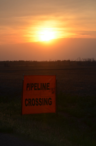 Pipeline crossing signs warn us of whats up ahead