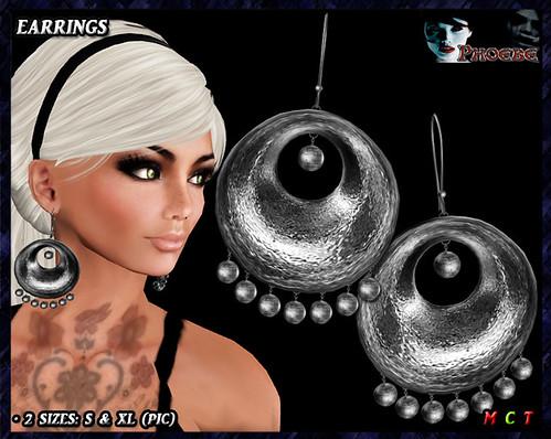 *P* Monica Earrings ~Platinum~ 756x512