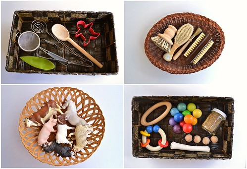 Themed Treasure Baskets (How We Montessori)