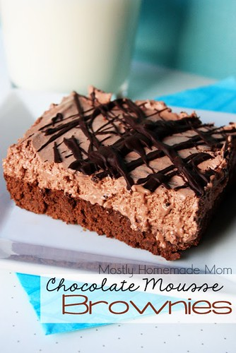 Chocolate Mousse Brownies from Mostly Homemade Mom