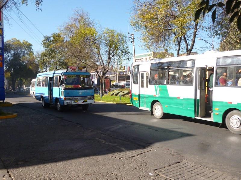 """Combi"", Arequipa's mini buses."