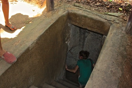 entrance to the Cu Chi tunnels
