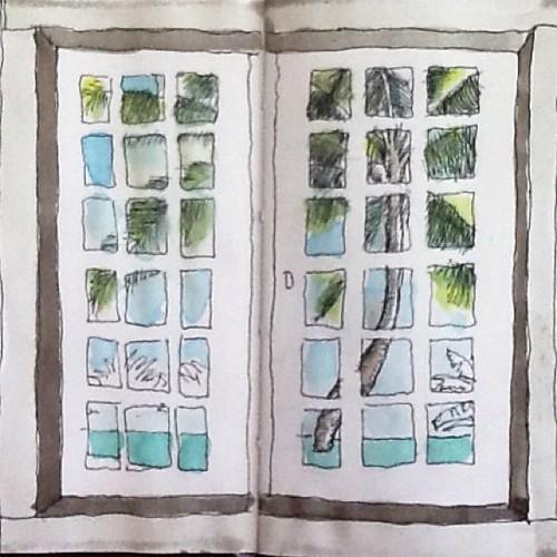 ...e o melhor do Litoral. Esperando a maior frente fria do ano... #desenho #aquarela #sketchs by Dalton de Luca