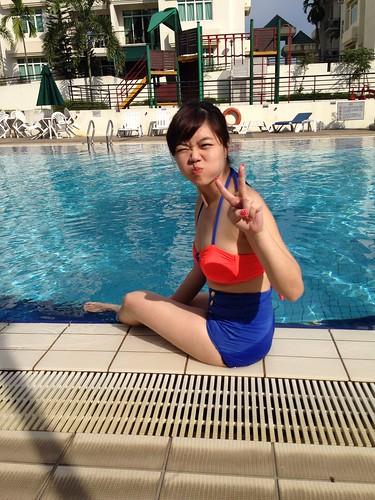Milch scape high waist bikini