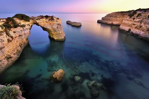 ocean sunset sea seascape beach portugal water rock coast sand nikon rocks arch natural cove rocky tunnel cliffs atlantic caves coastline lagoa algarve coves carvoeiro benagil albandeira joaofigueiredo nikond3x joaoeduardofigueiredo