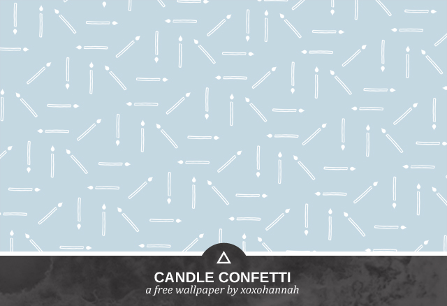 Candle Confetti Desktop Background Preview in Baby Blue