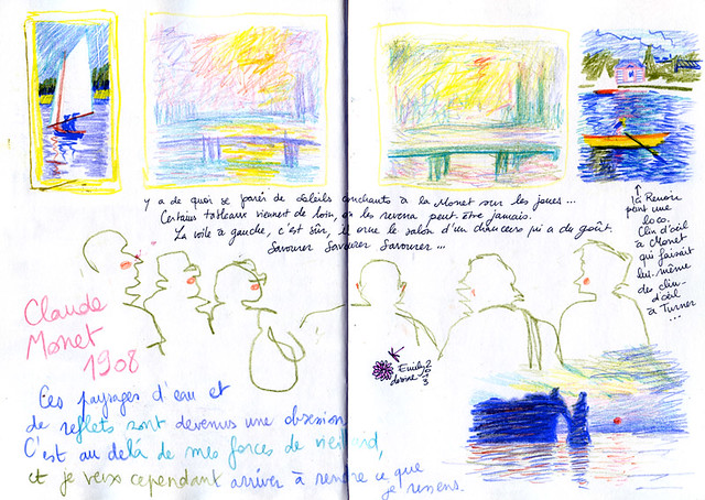 Normandy Holidays Homework #3 - Trying to understand impressionism marks and shapes...