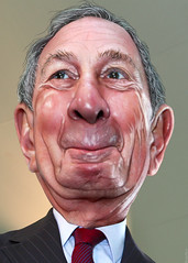 Michael Bloomberg - Caricature