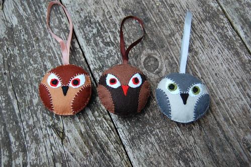 owl medallions - new