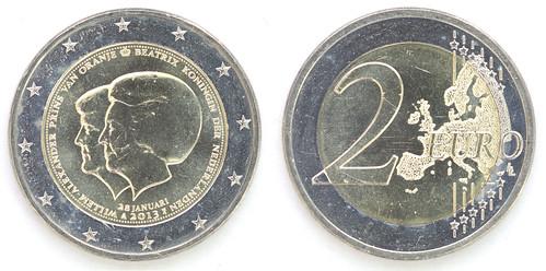 2 Euros Países Bajos 2013