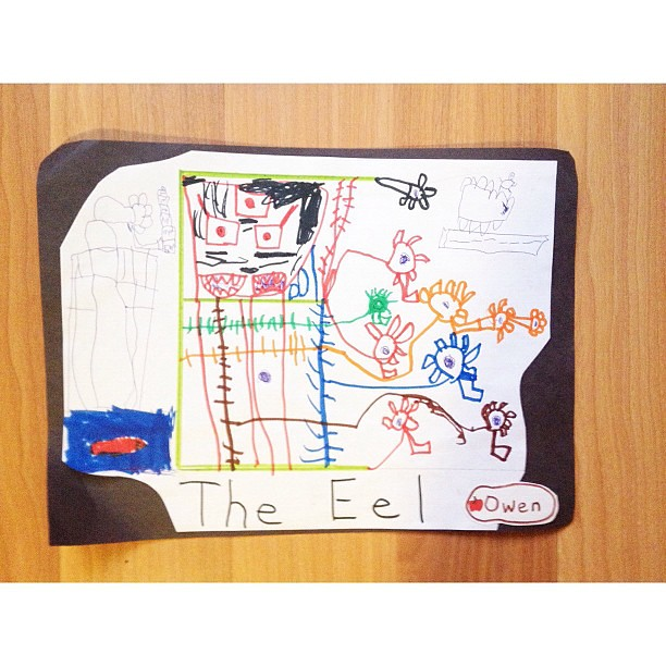 The Eel by Owen age 7 grade 1
