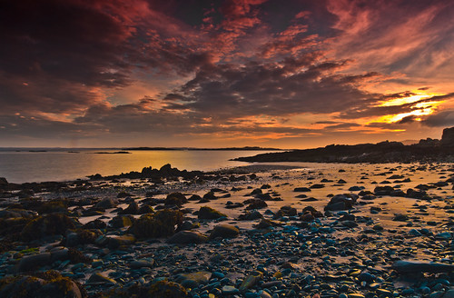 sunset scotland carrick dumfriesandgalloway carrickshore islemouth murraysisles