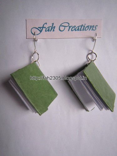 Handmade Jewelry - Paper Book Earrings (6) by fah2305