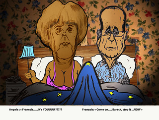 MERKEL AND HOLLANDE AND THE NSA