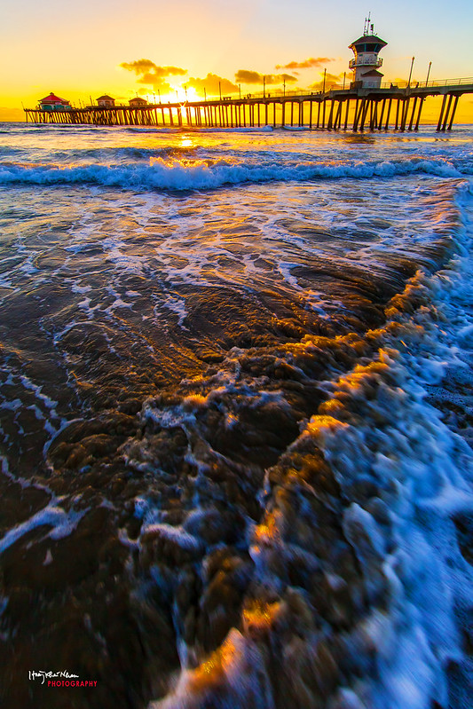 2013-10-29 Sunset Over Huntington Beach Pier-9224