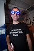 Eliot and his awesome blinky tardis-themed goggles by pinguino