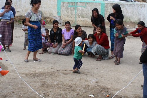 playing with kids in rural Guatemala