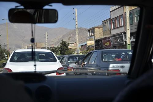 coche con conductor en Irán