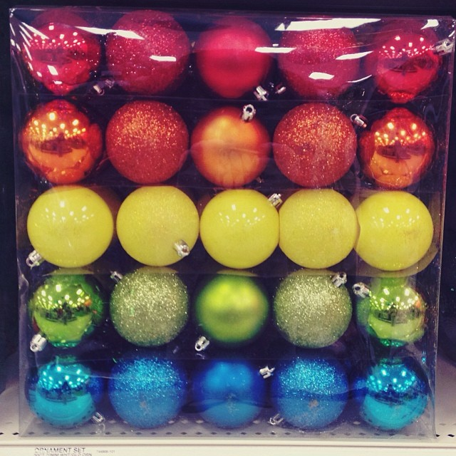 I must have these ornaments.  So cute!  #pride #rainbow #target