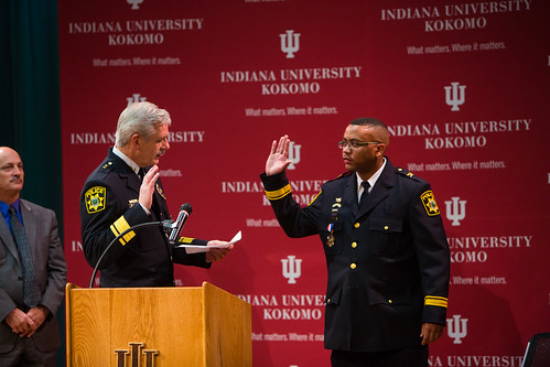 Swearing in of IU Kokomo Chief of Police Wayne James