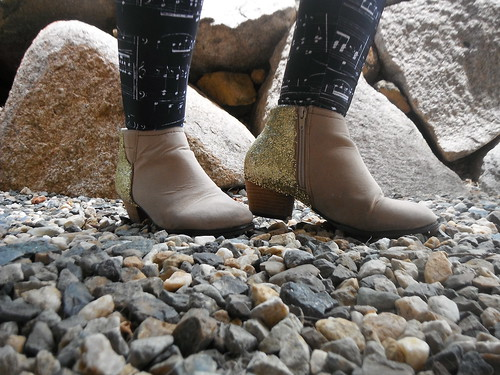 How to - DIY Glitter Boots