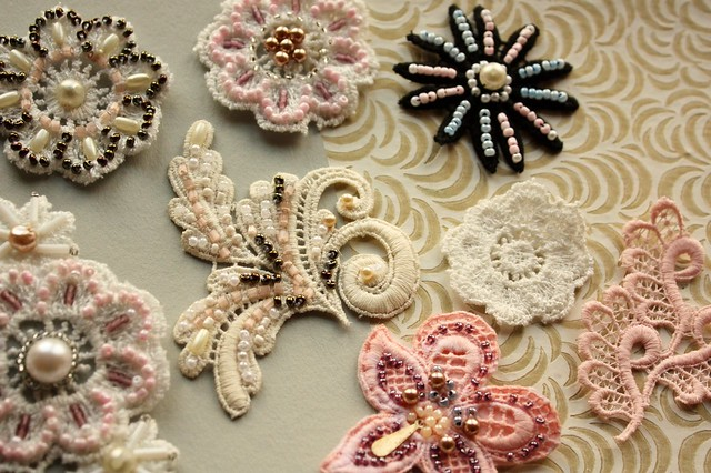 vintage lave brooches