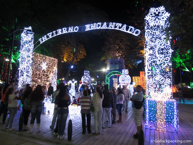 It may never snow in Medellin, but the symbols of winter are still associated with Christmas