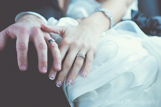 Close-up of rings and nail art
