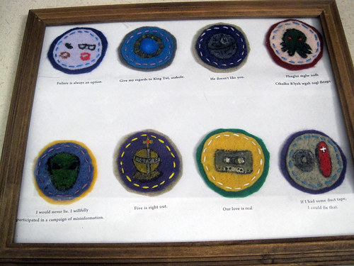 Nerd Merit Badges Mounted