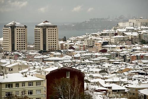 Snow on Istanbul