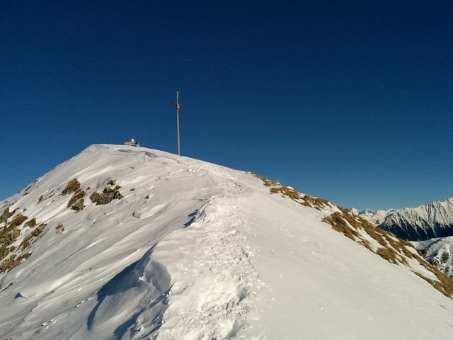 Gipfelkreuz Sambock, Wandern in Südtirol