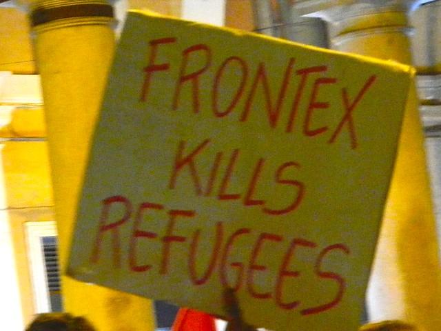 Manifestazione di rifiugiati