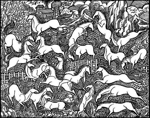 HORSE - HORSES - ABSTRACT HORSES - PEN DRAWINGS - Artist ANIKARTICK,Villivakkam,Chennai,Tamil Nadu,India