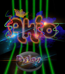 Desing neon style made by me