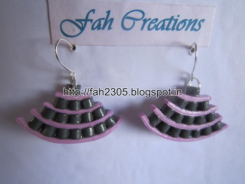 Handmade Jewelry - Paper Quiilling Egyptian Earrings (Free Form Quilling) (4) by fah2305