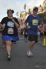 Running down Main Street USA