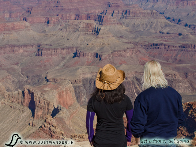 PIC: Bill and Maya of JustWander.in visit the Grand Canyon