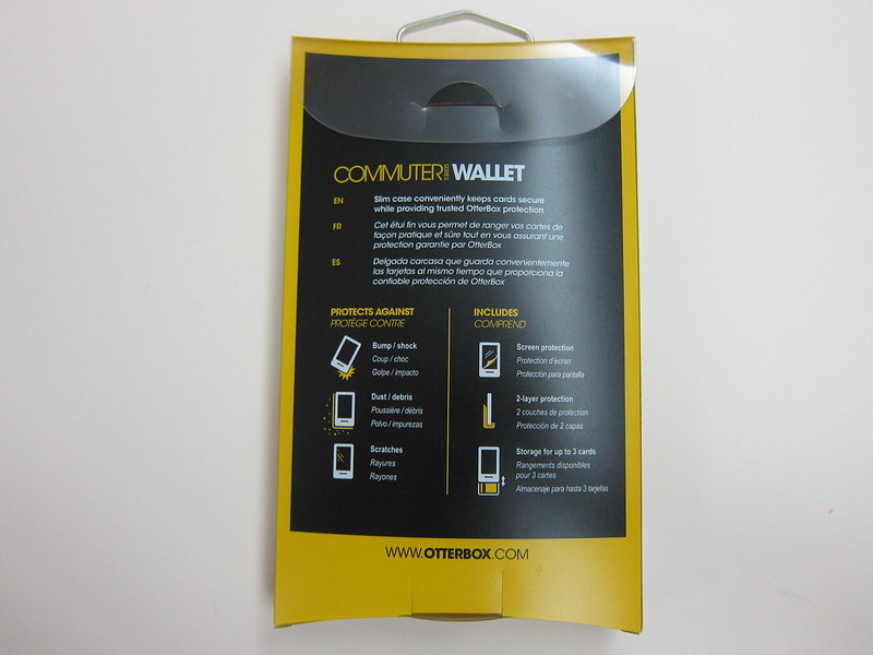 OtterBox Commuter Wallet - Packaging Back
