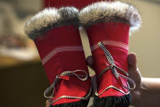 Red Shoes Seal Skin