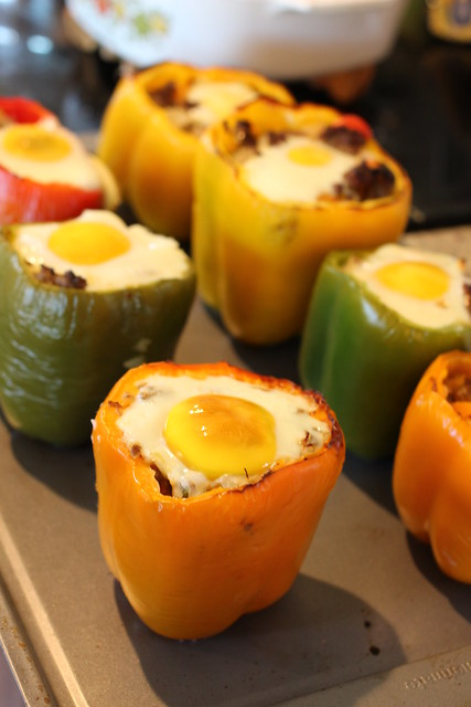 Sausage Stuffed Breakfast Peppers