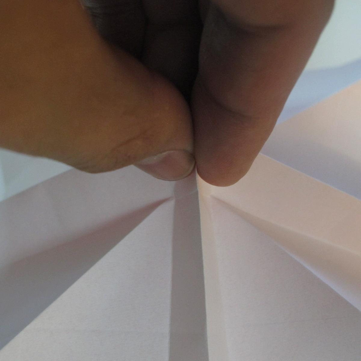 วิธีพับกระดาษพับดอกกุหลาบ 016