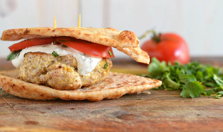 Tandoori-Style Chicken Burgers via LittleFerraroKitchen.com