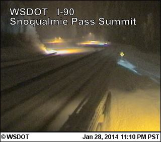 Snoqualmie Pass, WA -Winter storm warning