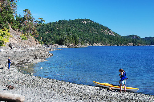 Medicine Beach, Pender Islands, Gulf Islands, Georgia Strait, British Columbia, Canada
