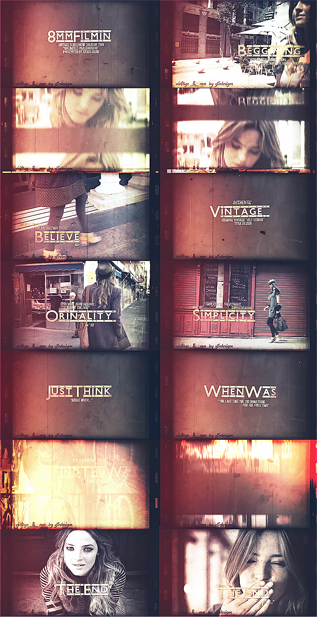 After effects Template Vintage Slideshow