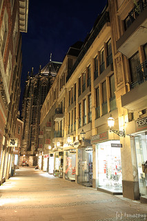Street in Aachen at Night