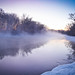 Winter river sunrise -30'C by Petr Vorobyev