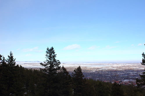 View over Boulder CO from the Flatirons