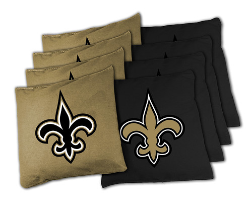 New Orleans Saints Cornhole Bags